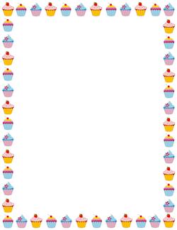 animated cupcake border