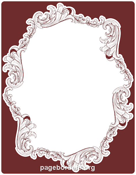 Filigree Border Clip Art Page Border and Vector Graphics