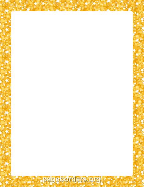 gold glitter border clip art