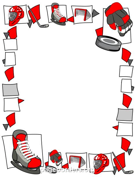 Hockey Border Clip Art Page Border and Vector Graphics
