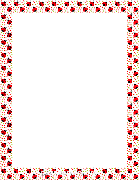 ladybug border clip art page