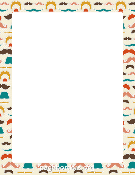 Mustache Border Clip Art Page Border And Vector Graphics