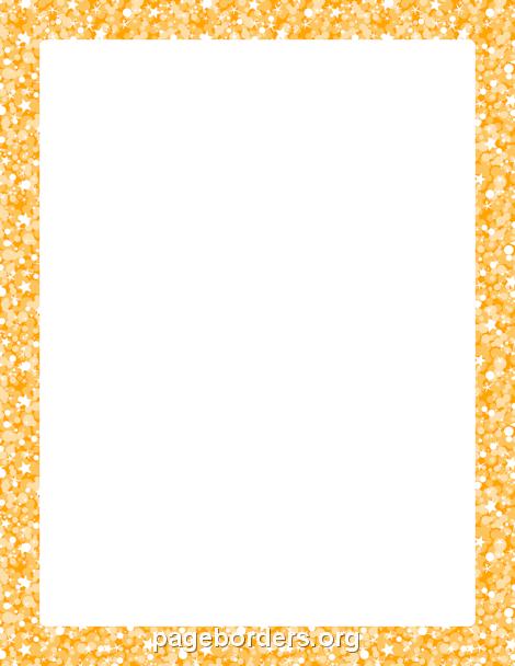 orange glitter border clip art