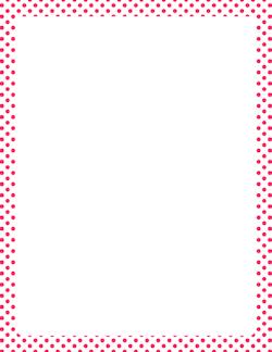 Free Polka Dot Borders Clip Art Page Borders And Vector