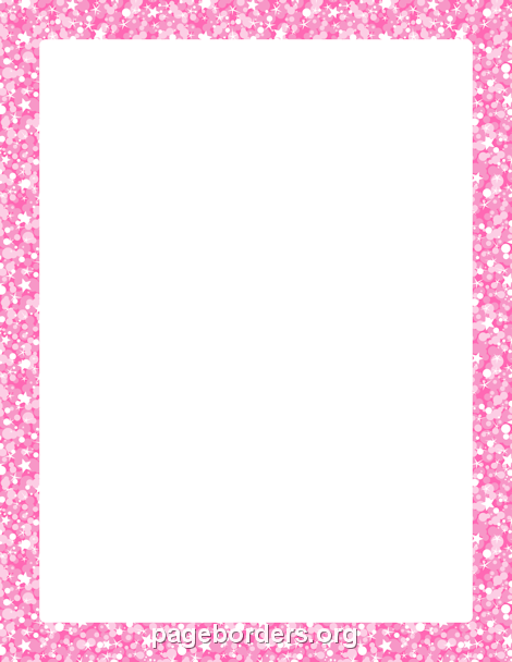 pink glitter border clip art