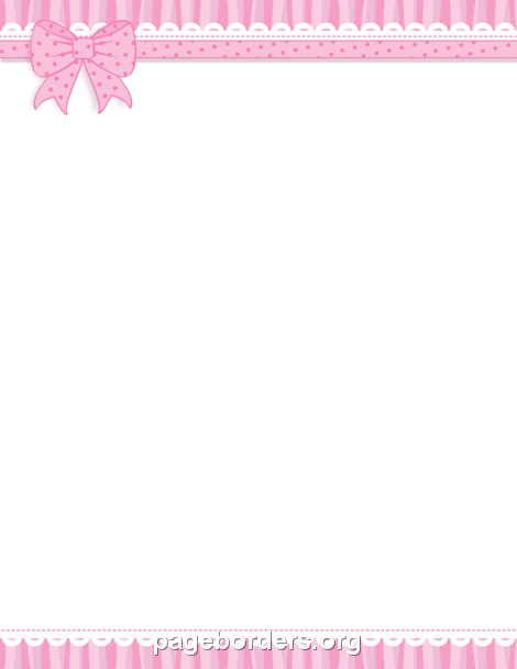 Pink Ribbon Border Clip Art Page Border And Vector Graphics