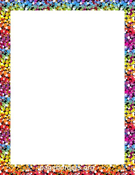 rainbow glitter border clip art