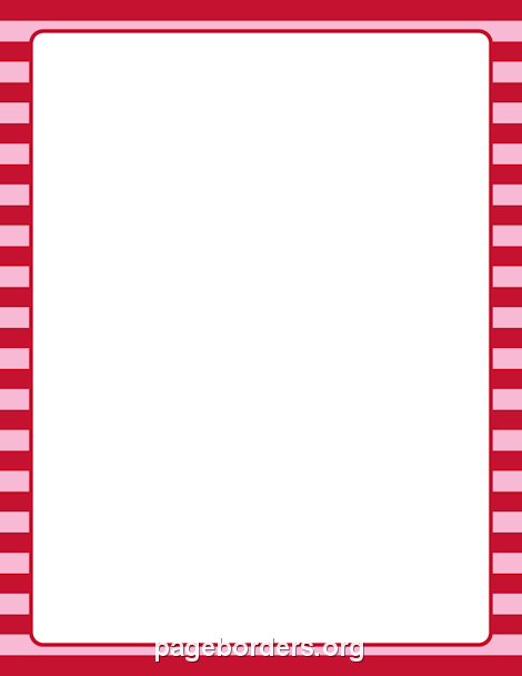 Red And Pink Striped Border Clip Art Page Border And
