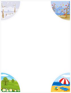 free summer borders clip