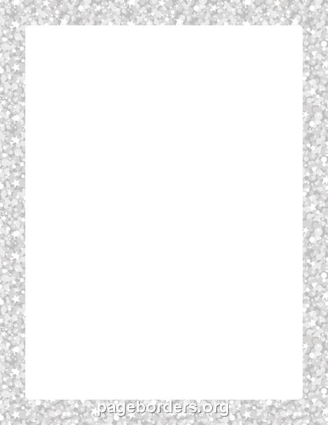 silver glitter border clip art