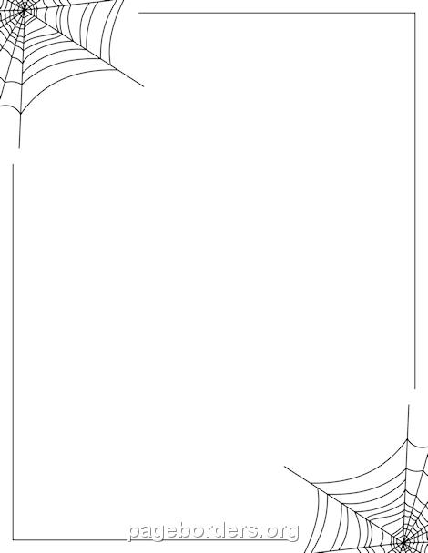 Spider Web Border: Clip Art, Page Border, and Vector Graphics