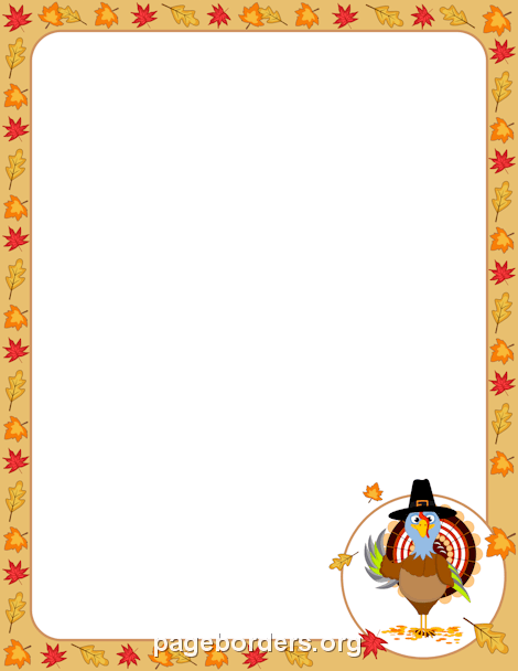photograph regarding Free Printable Thanksgiving Borders named 25+ Absolutely free Printable Thanksgiving Borders Landscape Illustrations or photos