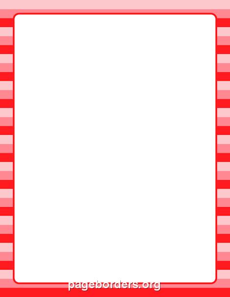 Valentine Striped Border Clip Art Page Border And