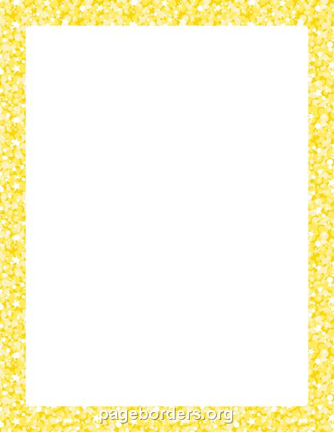 yellow glitter border clip art