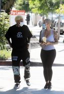 Amber Rose And Her Boyfriend Alexander Edwards Spotted At West Hollywood