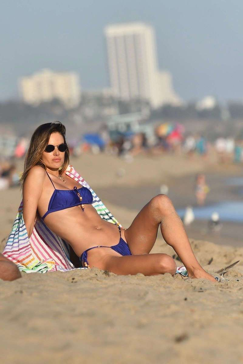 Alessandra Ambrosio looks gorgeous during a golden hour beach Photoshoot in Malibu