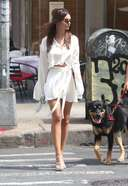 Emily Ratajkowski looks fierce in a stylish outfit while out for lunch in New York