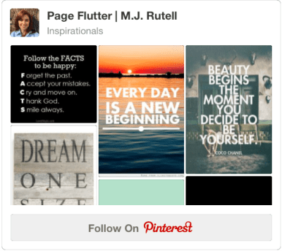 Follow M.J. Rutell on Pinterest | pageflutter.com