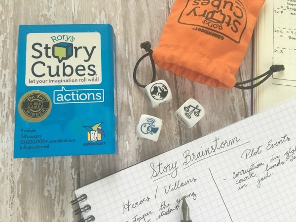 Tools To Banish Creative Burnout | pageflutter.com | Surprising ways to overcome writer's block and creative burnout. Rory's Story Cubes.