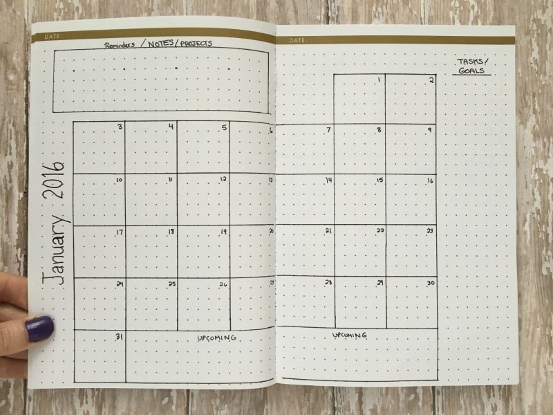 Quarterly Calendar Ideas : Monthly layouts to simplify your life page flutter