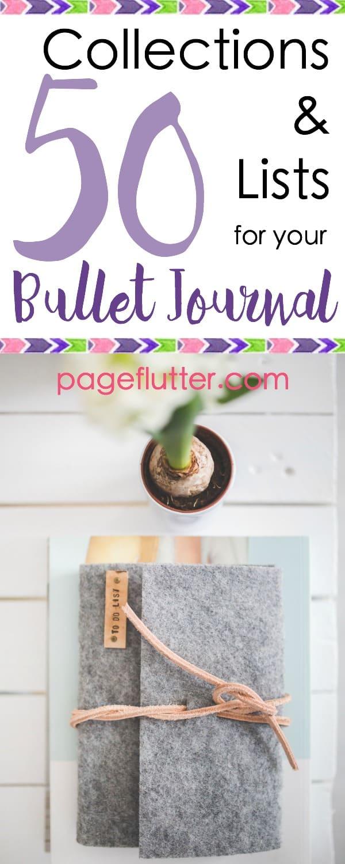 50 collections lists for your bullet journal page flutter. Black Bedroom Furniture Sets. Home Design Ideas