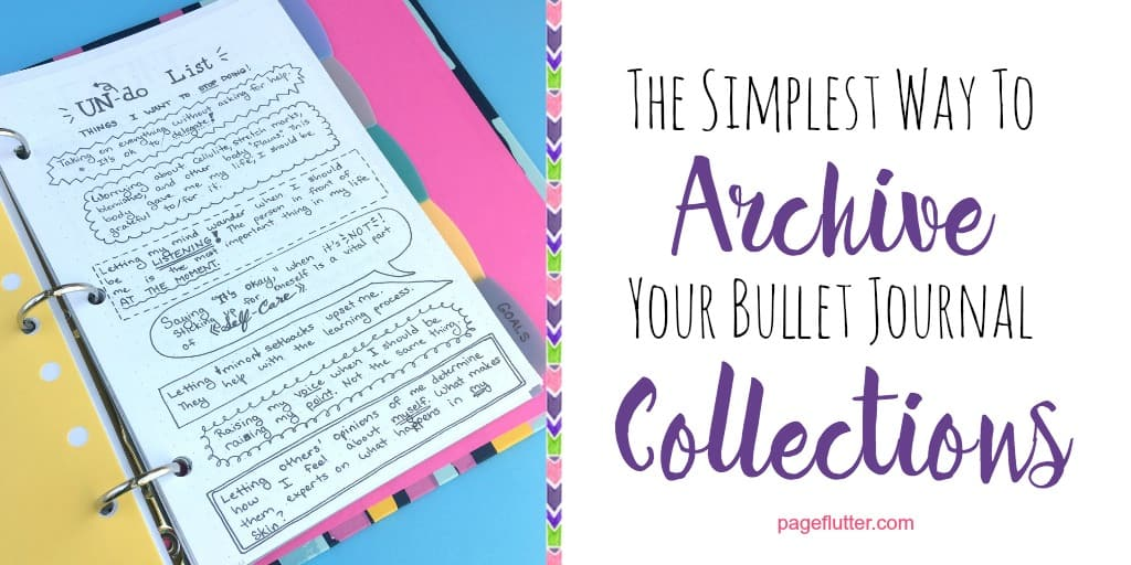 the simplest way to archive your bullet journal collections page flutter. Black Bedroom Furniture Sets. Home Design Ideas