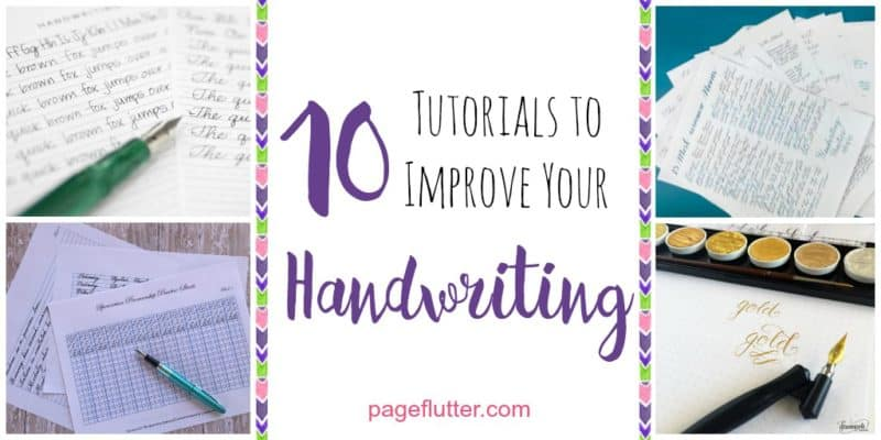 10 Handwriting Tutorials For Your Bullet Journal Page Flutter