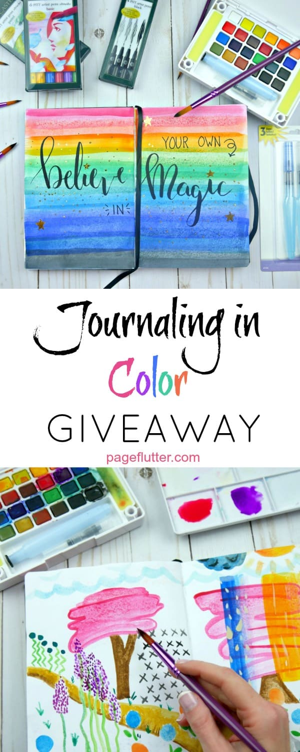 Journaling in Color. I'm giving away an HUGE art journaling starter kit. Don't miss this giveaway!