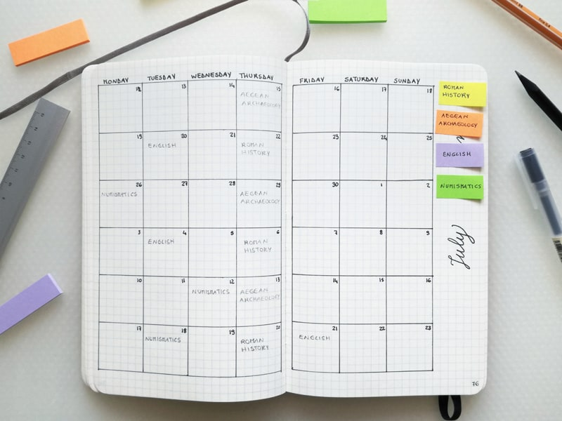 Need studying tips? Tackle finals in a bullet journal, organize big projects, and track deadlines.