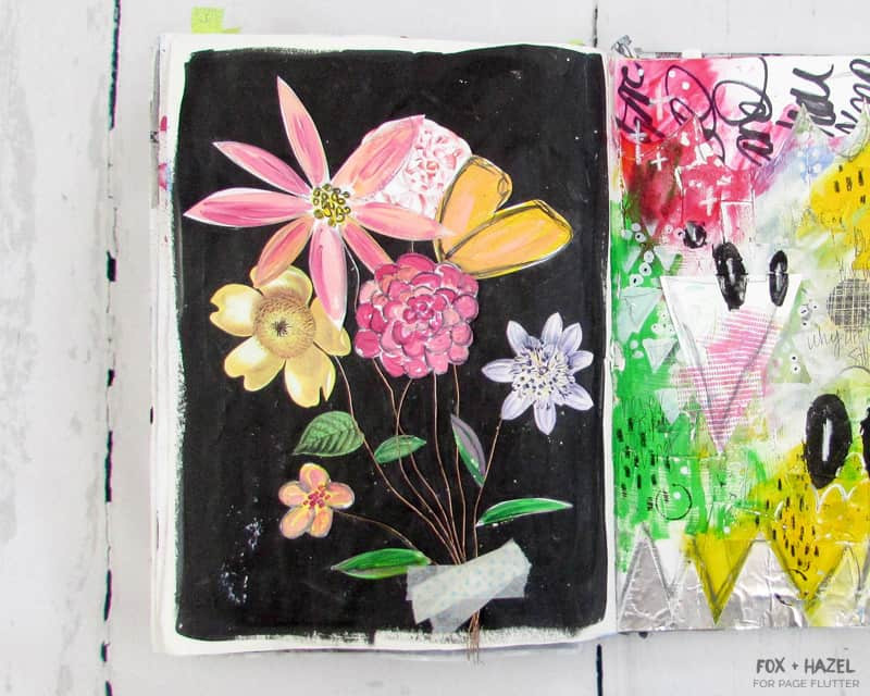 How-To-Use-Art-Journaling-Supplies-Fox-and-Hazel-For-Page-Flutter