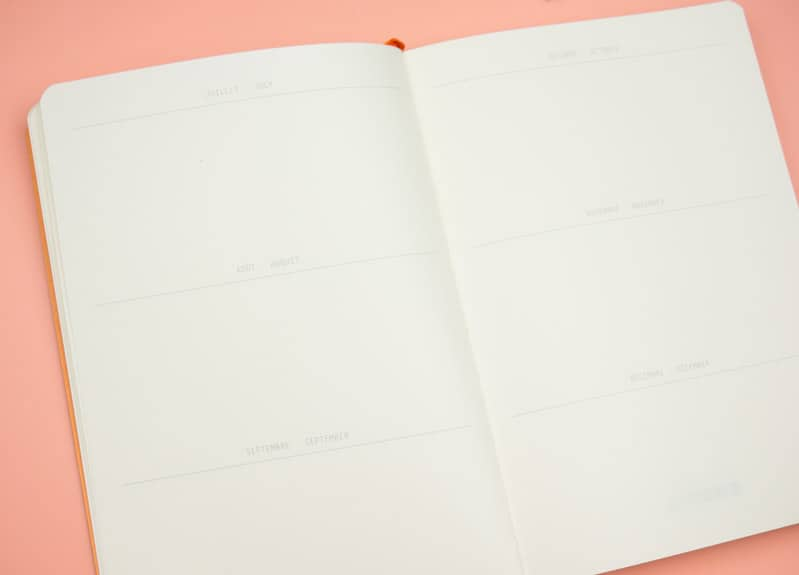 Rhodia Goalbook review. Finally! The perfect dot grid notebook for Bullet Journaling, DIY Planners, and goal setting.