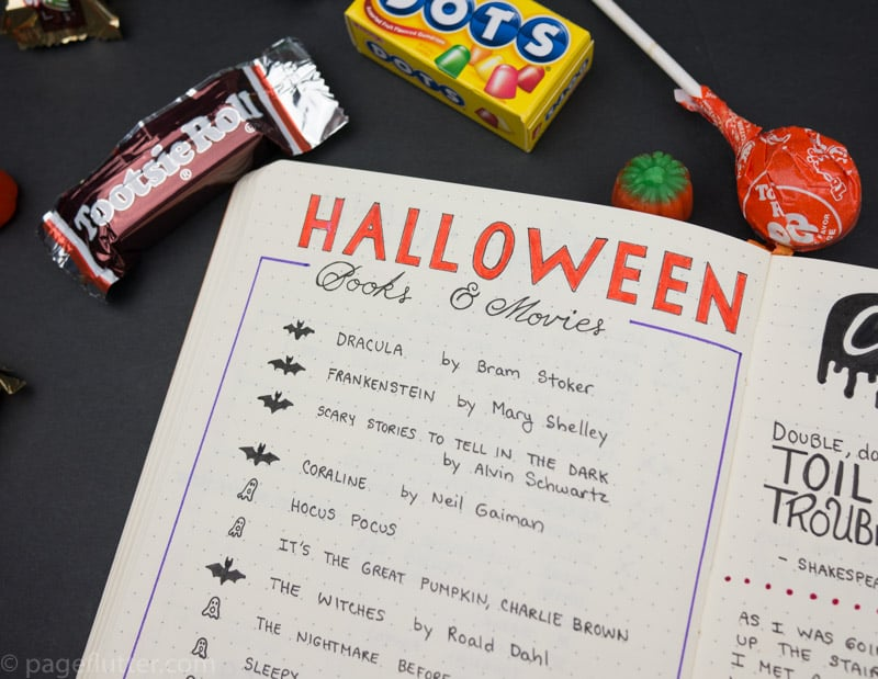 Spooky Lists For Your Halloween Journal Pages Page Flutter