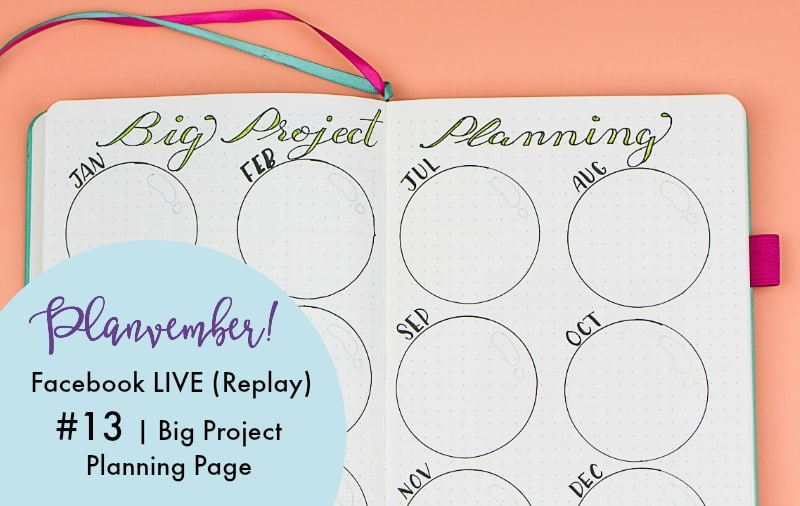 Big project planning. 2018 Planning pages. #goalsetting #planner #journal #bujo