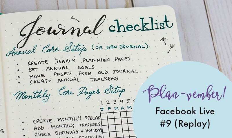 planvember day 9 planning checklist in my 2018 journal page flutter