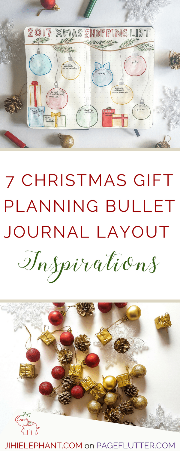 7 Christmas Gift Planning Bullet Journal Layout Inspirations | Page ...