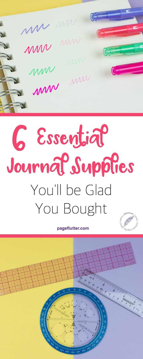 After 2 years, these are my 6 essential journal supplies I would buy again! The best pens, journals, and planning supplies! #bulletjournal #journaling