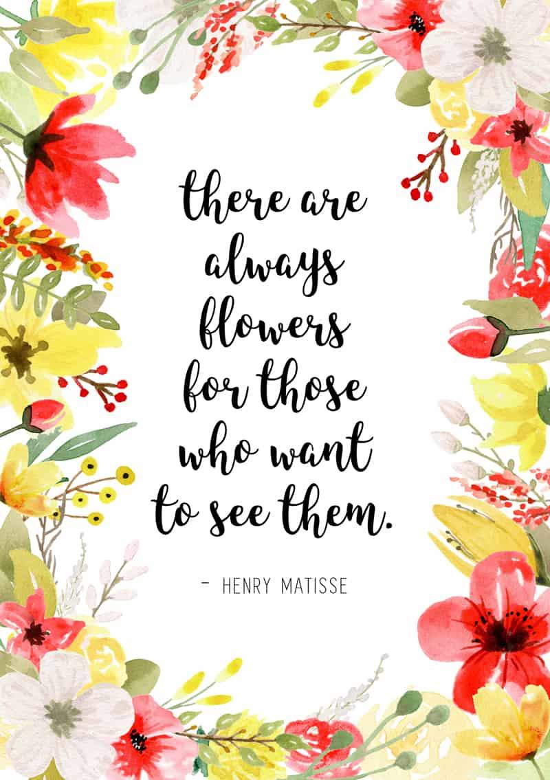 3 free floral art spring planner printables page flutter