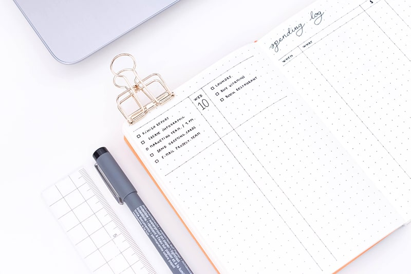 10 awesome a6 bullet journal layouts to optimize your planning page flutter. Black Bedroom Furniture Sets. Home Design Ideas