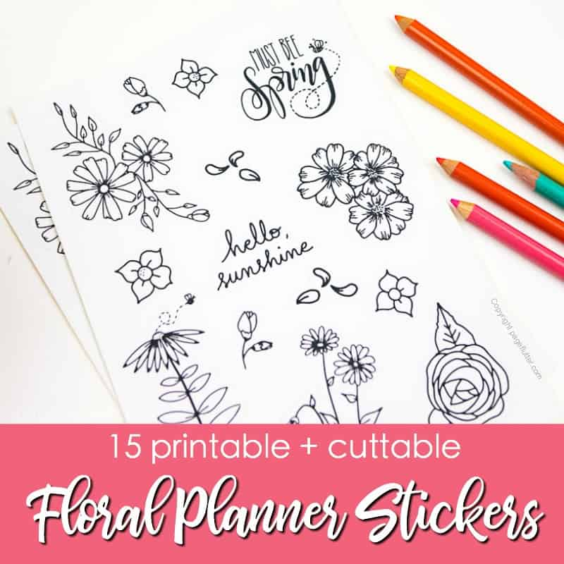 15 Printable Floral Planner Stickers to Beautify Your Entire Routine ...