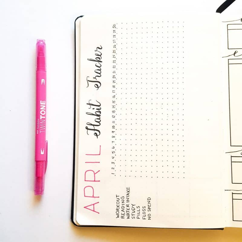 30+ Super Trackers For Your Planner:Daily, Monthly, Yearly| April habit tracker | Jihi Elephant for pageflutter.com