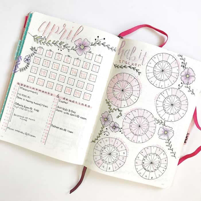 30+ Super Trackers For Your Planner:Daily, Monthly, Yearly| thepetiteplanner.com