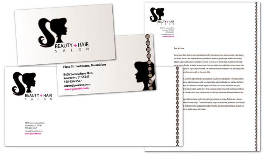 Letterhead template for Beauty Spa Hair Salon. Order