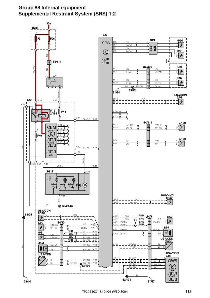 volvo user wiring diagram s60
