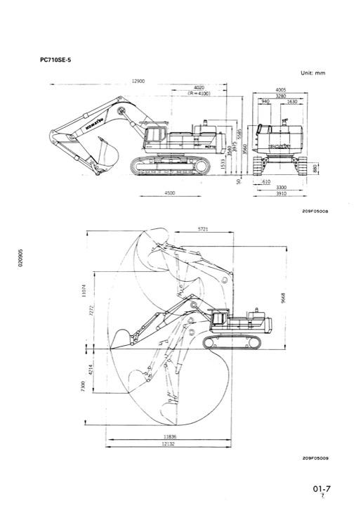 Komatsu PC650-5 PC650SE-5 PC650LC-5 PC710-5 PC710SE-5