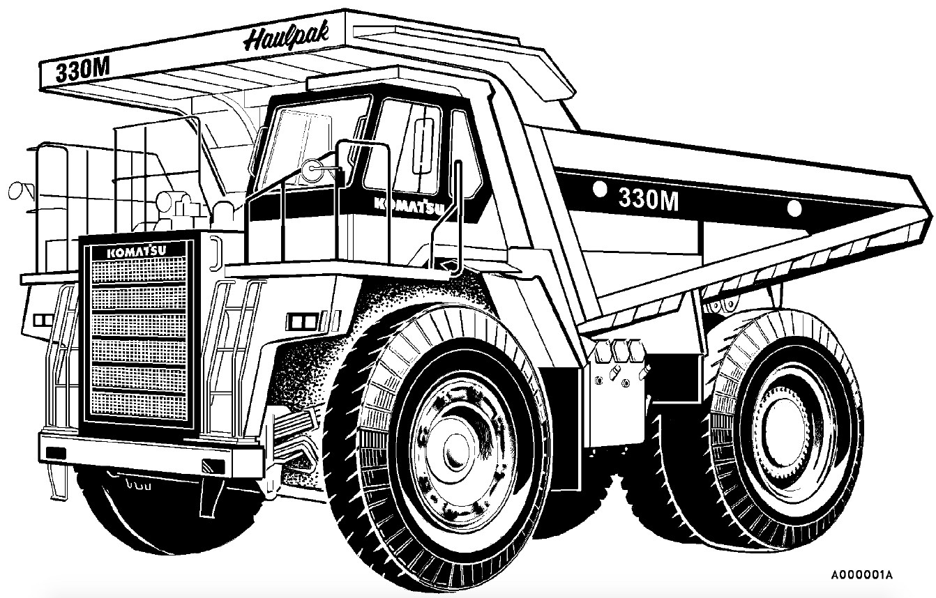 Komatsu Dump Truck 330m Factory Service Amp Shop Manual Pagelarge