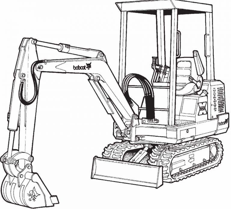 Bobcat 220, X220 Excavator Factory Service & Shop Manual