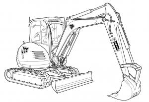 JCB Excavators 8040, 8045, 8050, 8055 Factory Service
