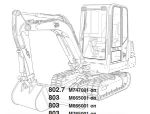 JCB Excavators 801, 802, 803, 804 Factory Service & Shop