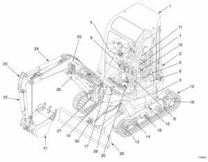 Takeuchi Compact Excavator TB28FR Factory Service & Shop