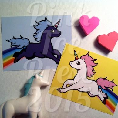 Unicorn Postcards